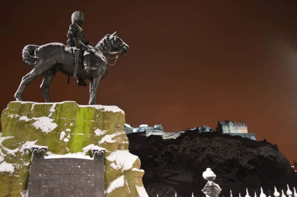 Edinburgh Castle in the Snow