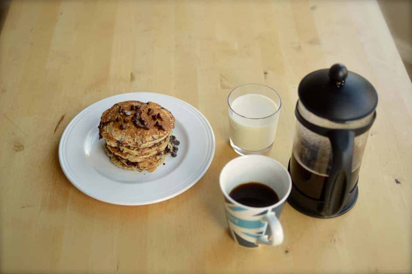 Chocolate Banana & Oat Pancakes