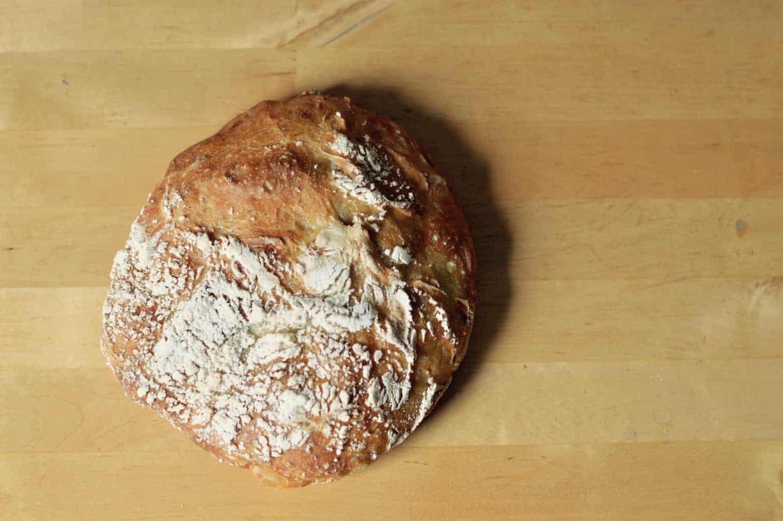 no-knead Crusty loaf