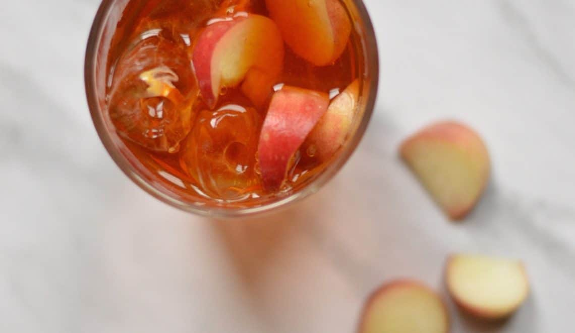 peach rooibos iced tea