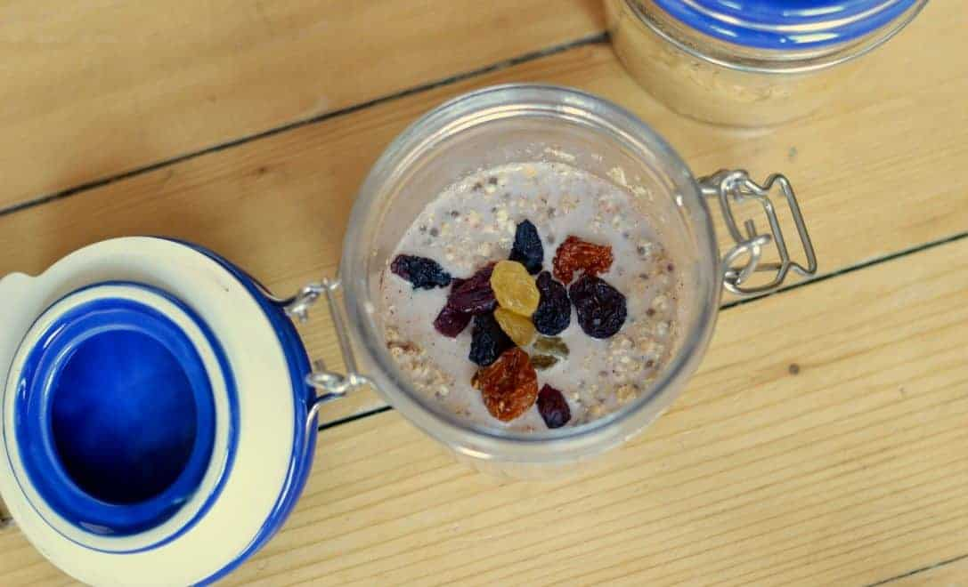 Overnight oats kilner jar