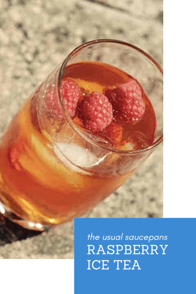 raspberry ice tea pin