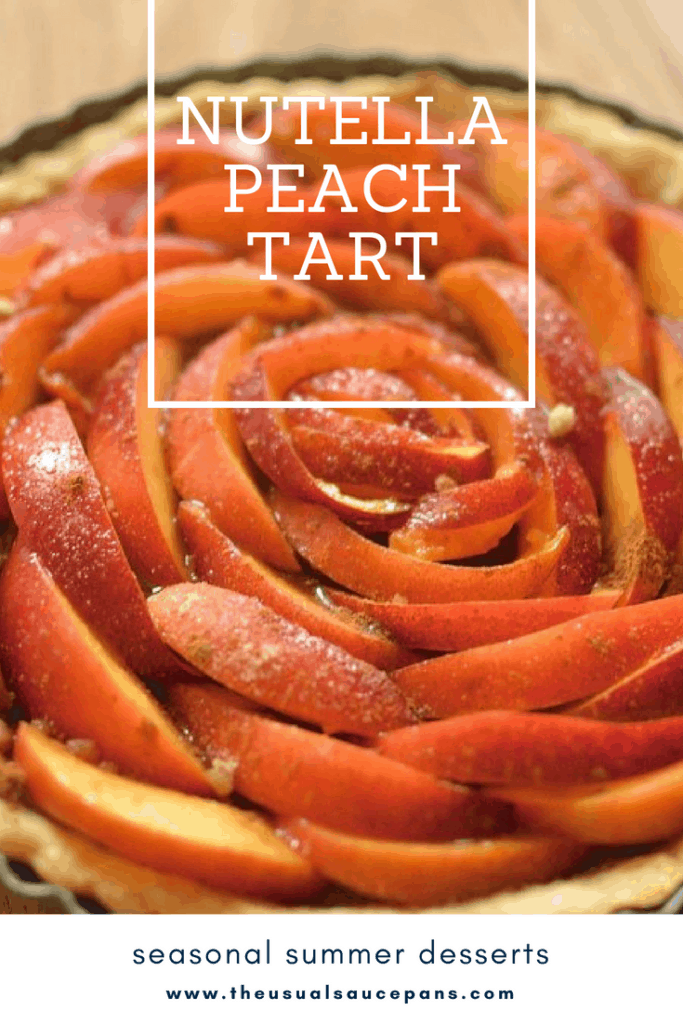 peach tart pin